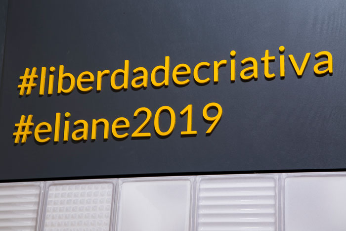 Eliane apresenta Liberdade Criativa na Expo Revestir 2019