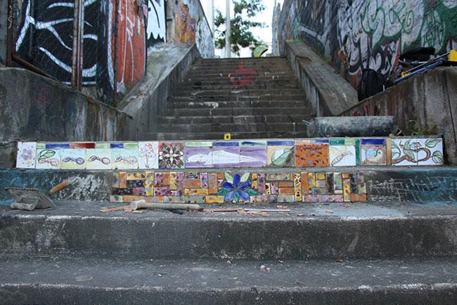 Eliane revitaliza escadaria na Vila Madalena em SP