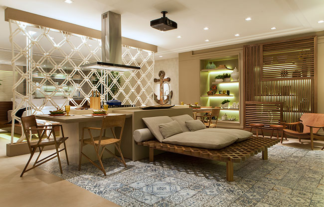 Flat Praiano une conforto e praticidade na Casa Cor ES