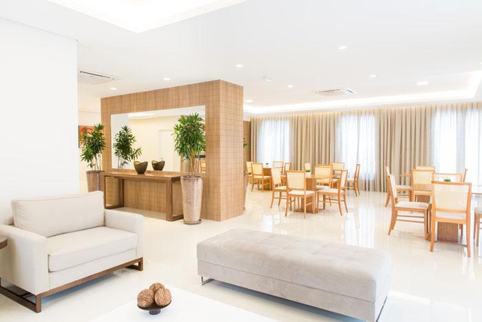 1 Pisos para salão de festas - Porcelanato Glacia White - Projeto Sharon Fliter