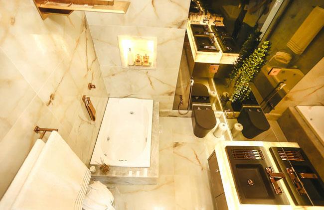 Porcelanato com efeito de mármore surpreende na Casa Cor Bahia