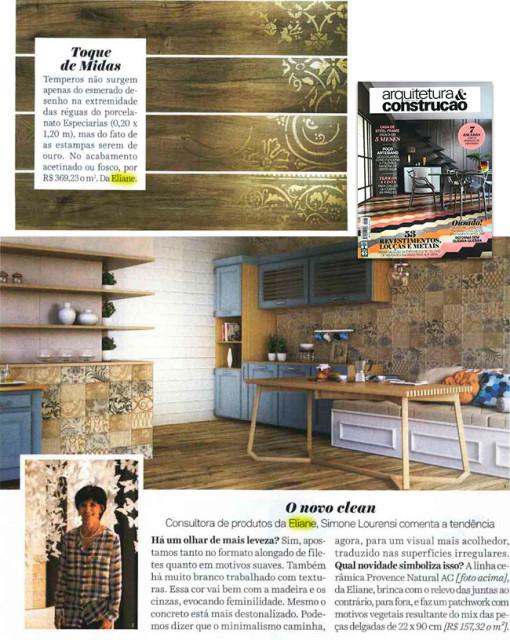 1 lançamentos eliane na mídia revista arquitetura e construção
