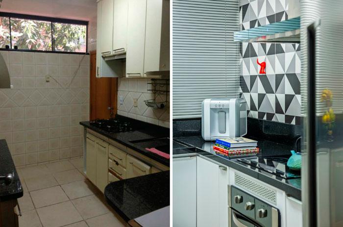 Dica de reforma de cozinha antiga com antes e depois