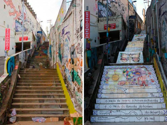 11 before and after the staircase of patápio vila madalena sp