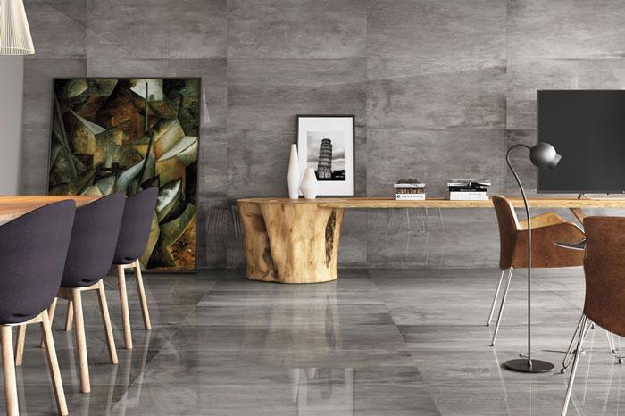 2 Eliane Ceramic Tiles - Flat PO porcelain tile 60x120cm on floor and wall