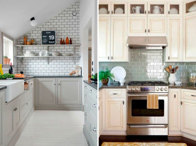 2 ideas to use subway tile