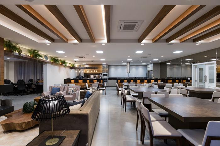 4 Pisos para salão de festas - Porcelanato Munari Cimento - Projeto Duo Arquitetura e Design - Foto Marcelo Donadussi
