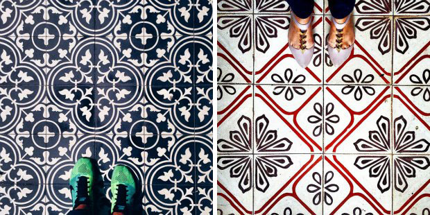 4 collaborative profile formed by photos of floor lovers from around the world