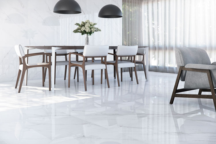 5 Porcelanato polido mármore Mont Blanc Eliane Revestimentos