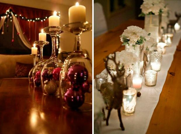 6 decoração elegante mesa natal
