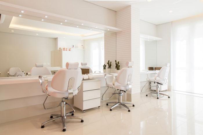 8 piso salão de beleza porcelanato ross white eliane projeto sharon fliter arquitetura