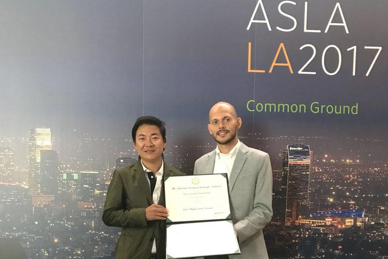 Alex Hanazaki recebe prêmio internacional com Praça Eliane