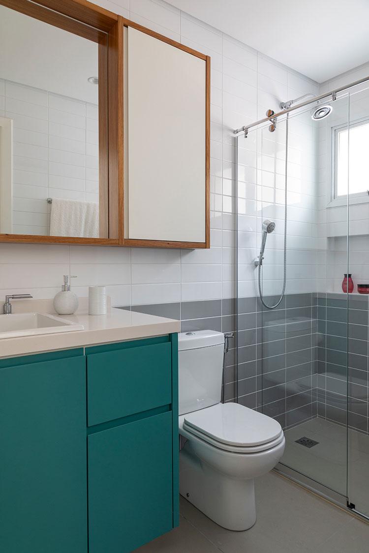 Azulejos Linear Eliane Revestimentos - Banheiro DT Estudio Foto Evelyn Muller