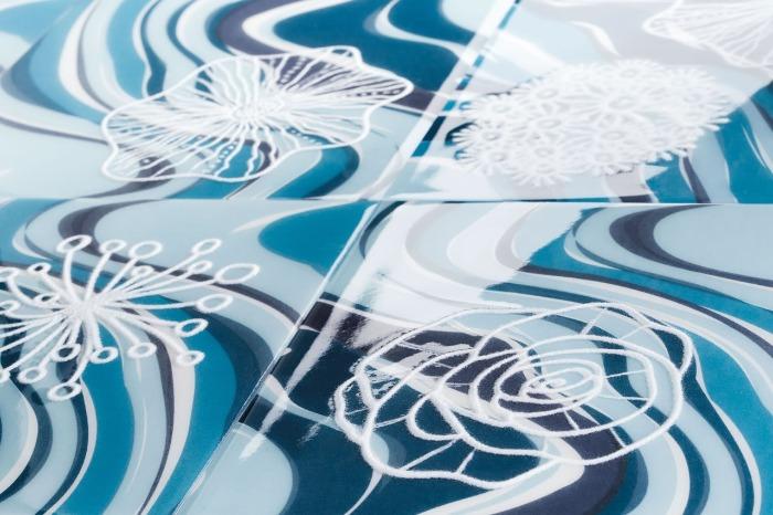 Azulejos Patch Coral vida marinha nas piscinas e paredes Eliane Revestimentos