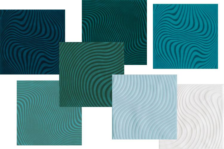 Azulejos azuis Patch Wave Eliane