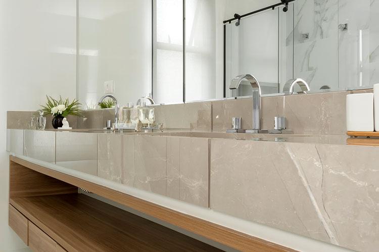 Bancada de porcelanato Pulpis Gray por Alavaski Arquitetura - Eliane Revestimentos