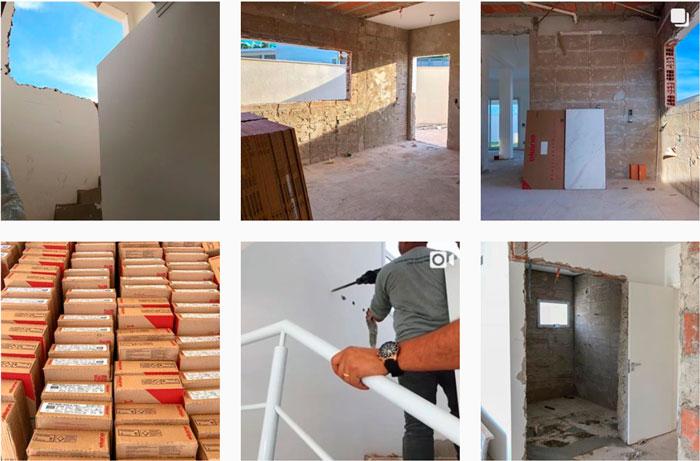Eliane Revestimentos na nova casa da Rayza Nicácio