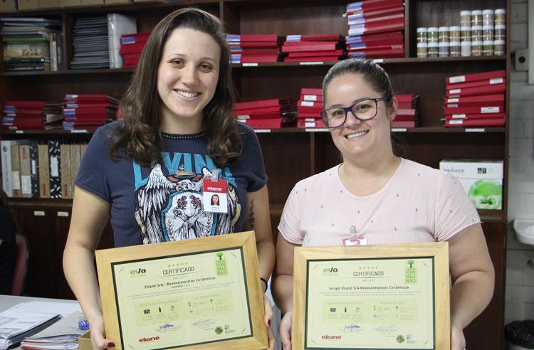 Eliane recebe certificado de gestão dos resíduos industriais