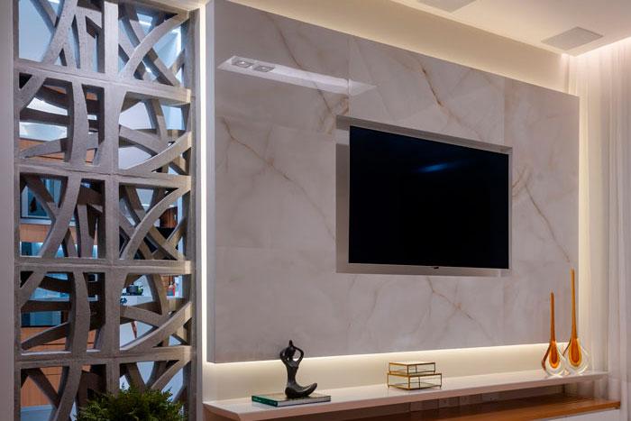 Ônix Cristal surpreende com aplicações diferentes em apartamento