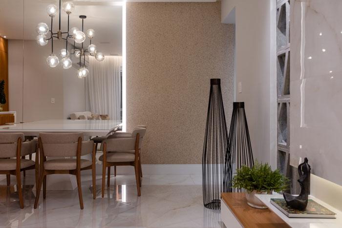 Sala com porcelanato Eliane Revestimentos - Projeto Edduardo Trigo - Foto Camila