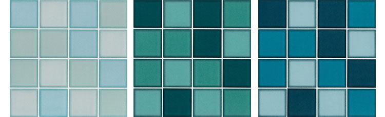 Versão moderna para pastilhas - Azulejos Eliane Colorbox Maxi para paredes ou piscinas