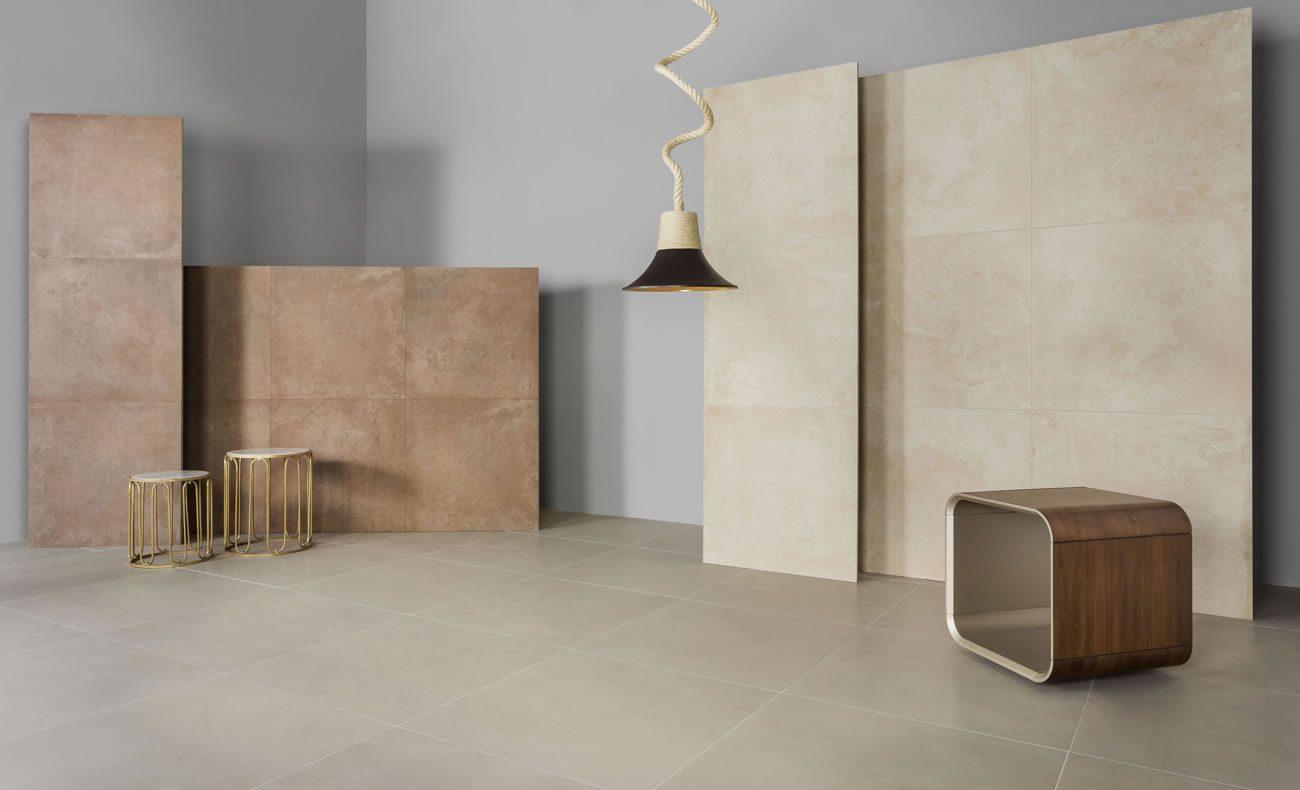 Ambiente Eliane: aga-zen-indoor-90x90cm_aga-desert-indoor-90x90cm_munari-cimento-ac-90x90cm_amb
