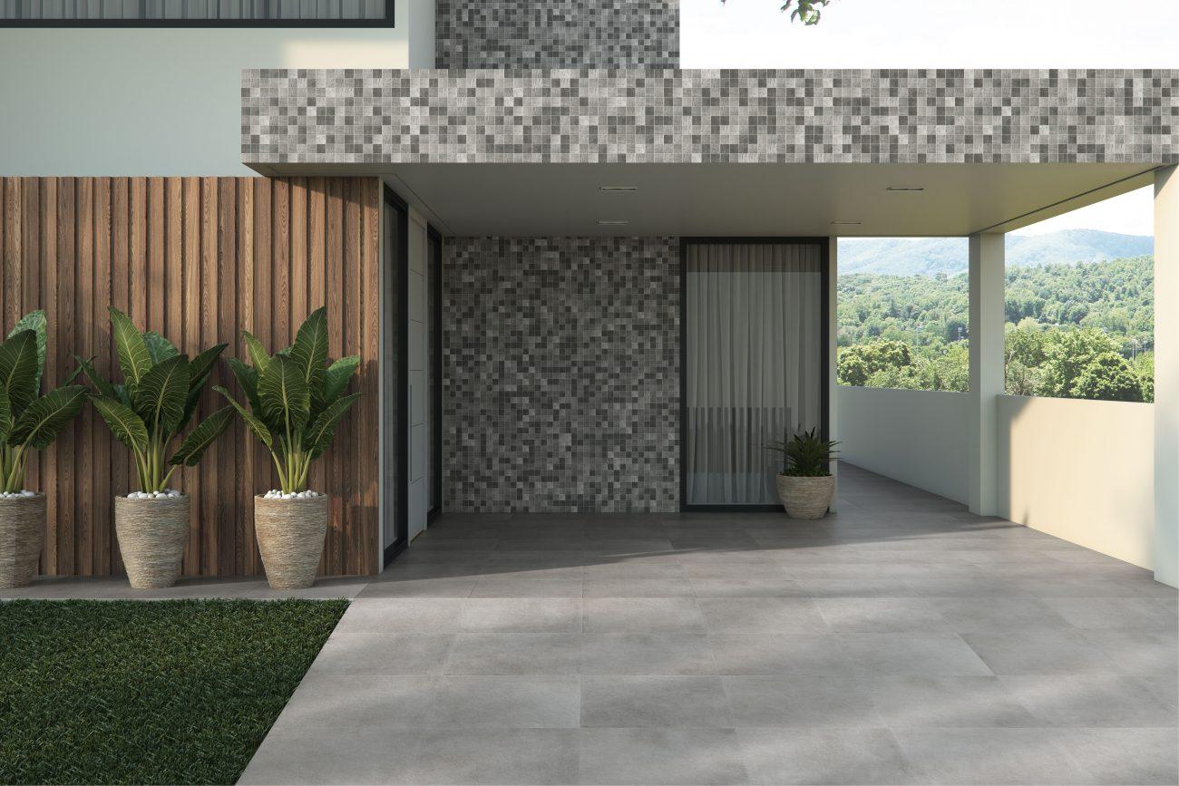Ambiente Eliane: basalto-grafite-mesh-ma-7,5×7,5cm_brera-cimento-ext-90x90cm-amb-rgb