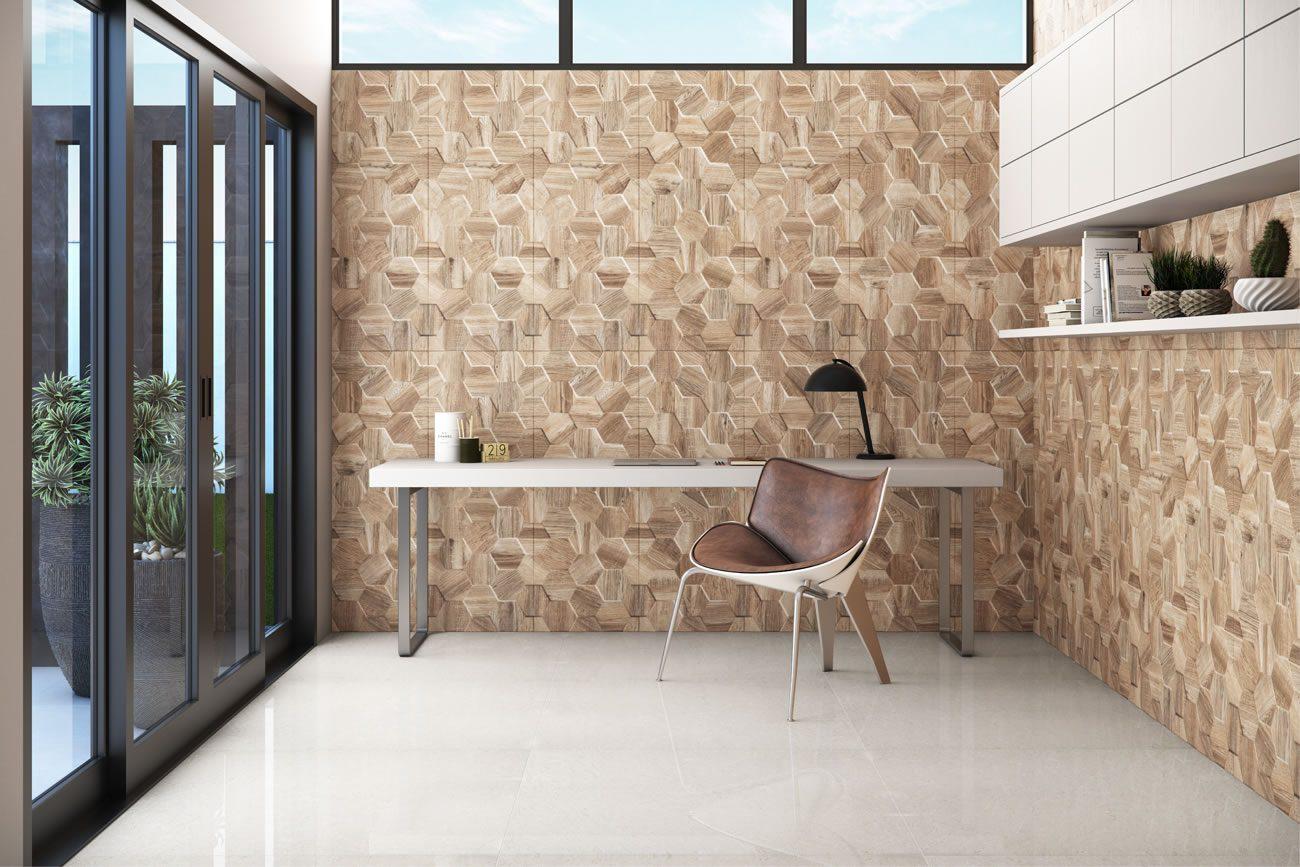 Ambiente Eliane: flake-wood-ma-45x120cm_adhara-po-100x100cm-amb