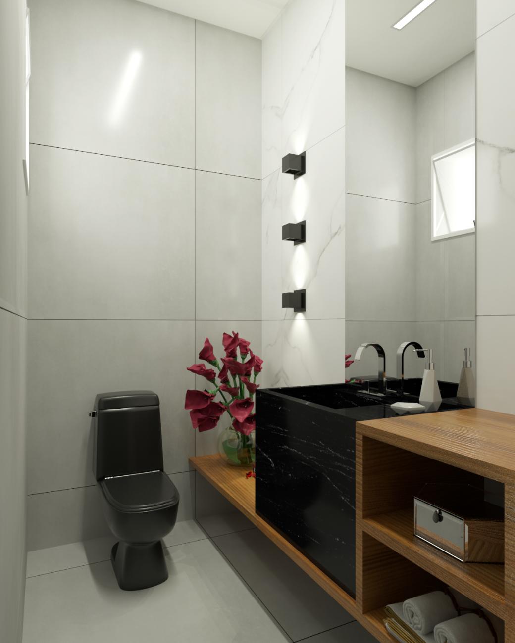 ambiente Mariene Luiza da Rocha – Munari Branco 90×90 e Place 60×60