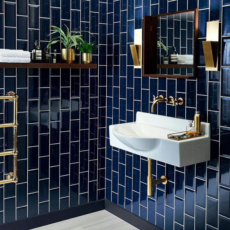 azulejo banheiro metrô azul deep blue eliane revestimentos