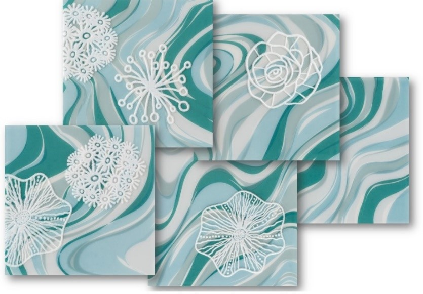 azulejos de piscina patch coral verde água eliane revestimentos