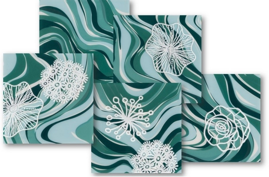 azulejos de piscina patch coral verde eliane revestimentos