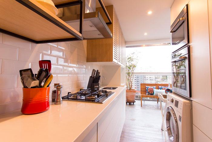 cozinha com azulejo metrô white eliane revestimentos por bo arquitetura
