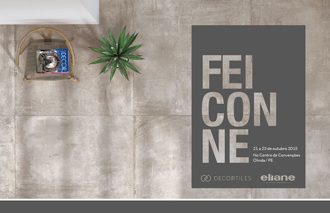 Eliane e Decortiles na Feicon NE 2015