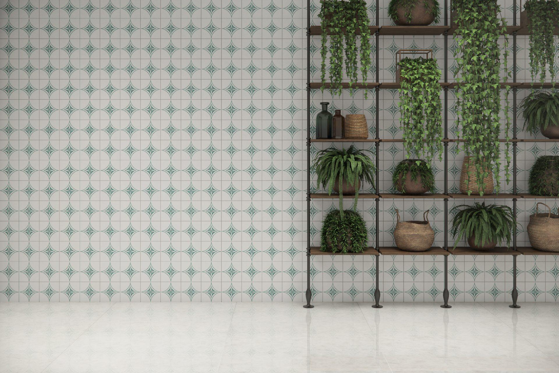 Sideral Verde AC 15x15cm – Crystal Quartzo PO 90x90cm