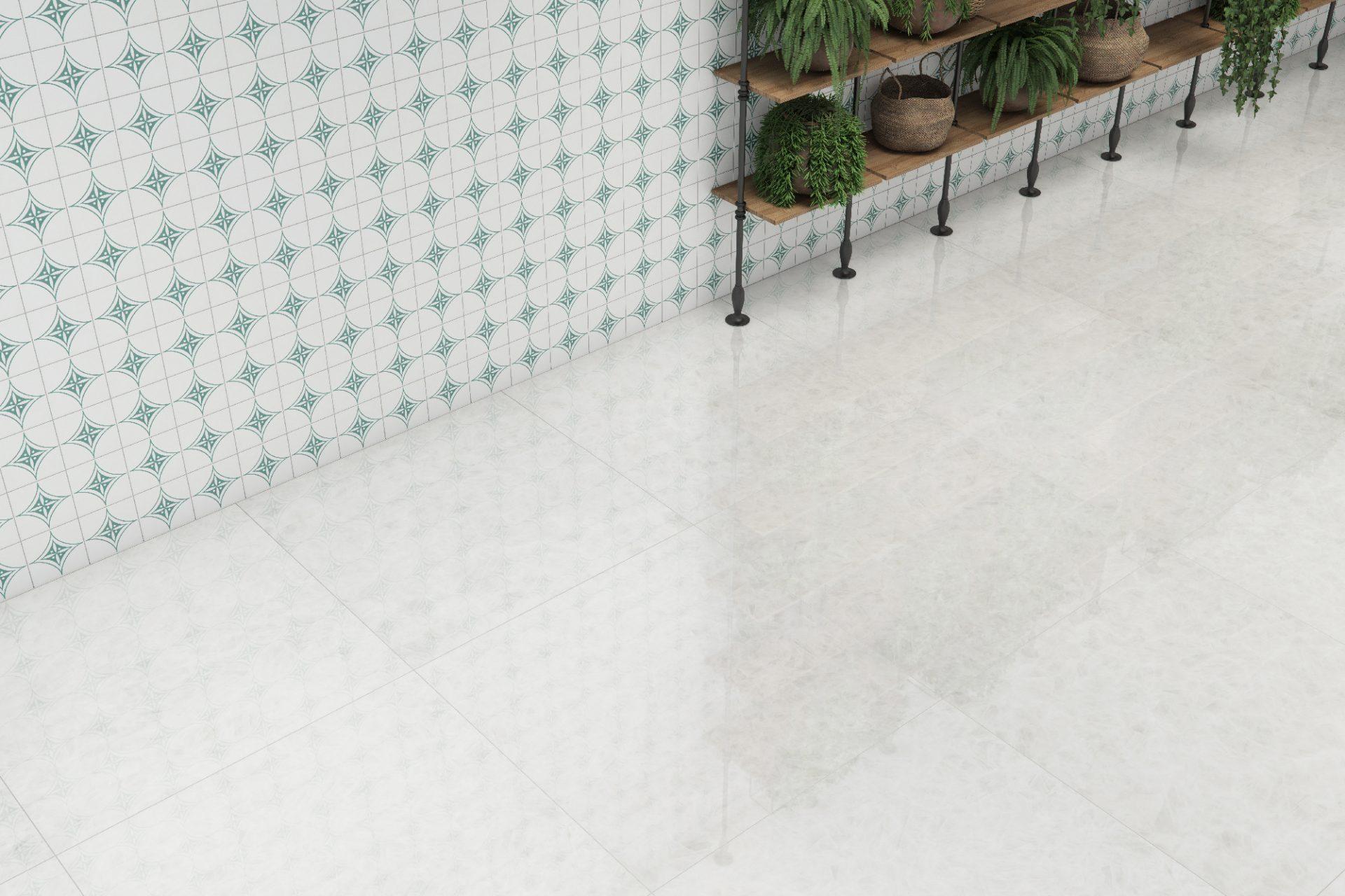 Crystal Quartzo PO 90x90cm – Sidereal Green AC 15x15cm