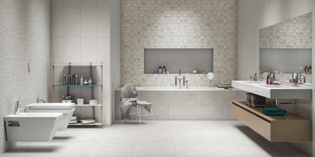 ideias de  piso e azulejo para banheiro