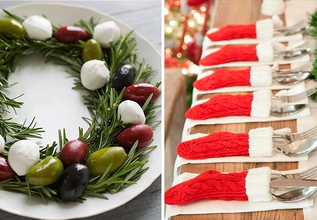 Ideias criativas para a mesa de Natal