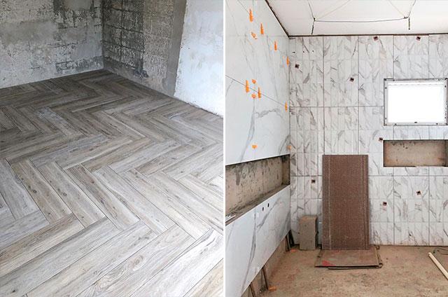 Diário de obra da Rayza Nicácio: temos piso chevron!