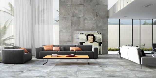 piso e parede sala com porcelanato eliane revestimentos lithos coleção 2015