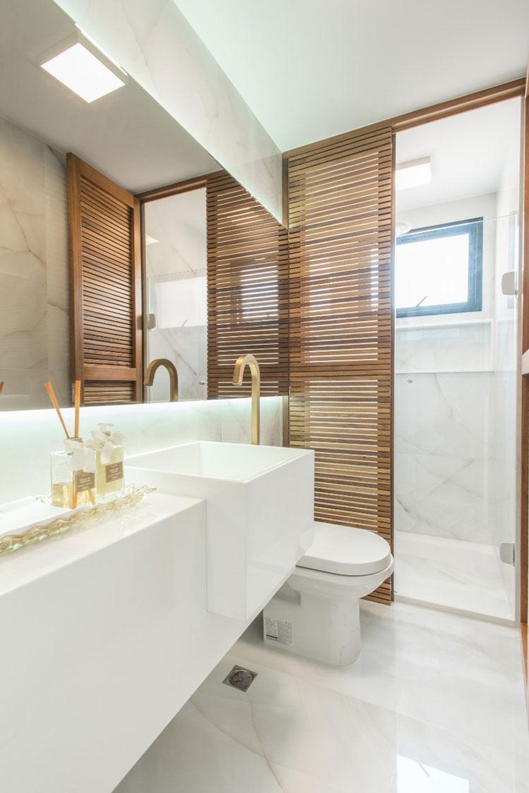 porcelanato polido banheiro ônix cristal eliane revestimentos projeto Laura Borges com foto de Filipe Araújo