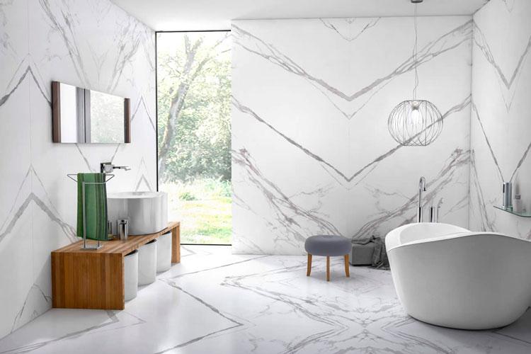 porcelanatos que imitam mármore - marmo branco eliane revestimentos