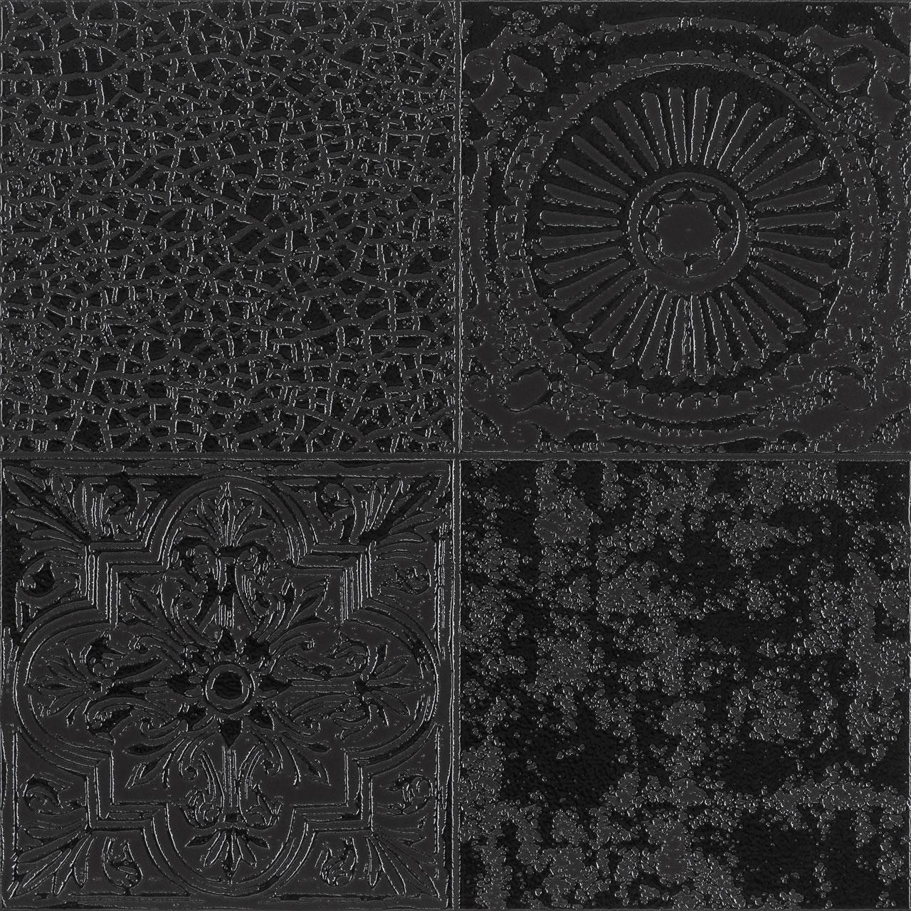 patch damasco preto