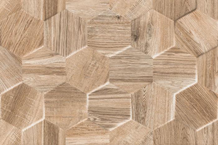 Parece madeira, mas é azulejo!