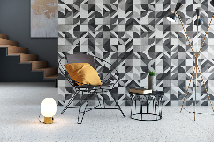 sala-cinza-com-azulejos-geométricos-eliane-revestimentos-malaga-ac-32,5x59cm_palladio-branco-ac-90X90cm
