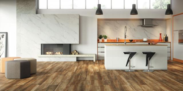 sobreiro piso com efeito de madeira de demolição